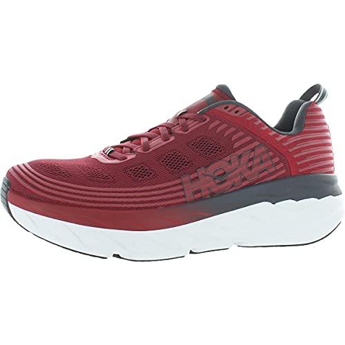 HOKA ONE ONE Mens Bondi 6 Rio Red/Obsidian Running Shoe - 10