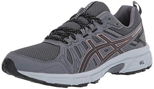 ASICS Women's Gel-Venture 7 Trail Running Shoes, 5, Graphite Grey/Rose Gold