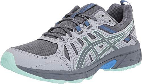 ASICS Women's Gel-Venture 7 Trail Running Shoes, 5M, Sheet Rock/ICE Mint