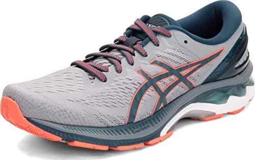 ASICS Men's Gel-Kayano 27 Running Shoes, 6, Sheet Rock/Magnetic Blue
