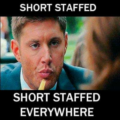 Short staffed nurse meme
