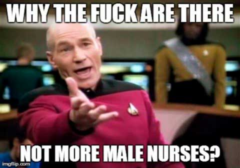 Why are there not more males nurses
