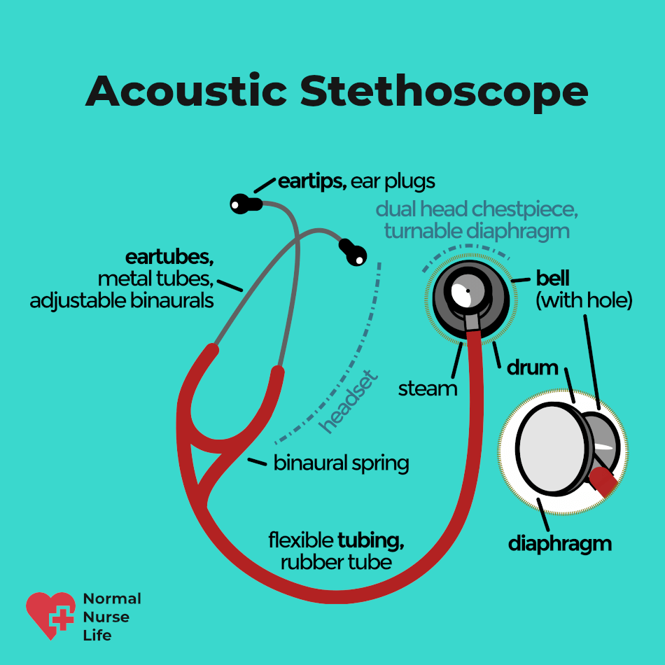 What is a stethoscope made of?