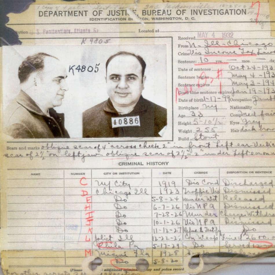 Criminal record of Al Capone