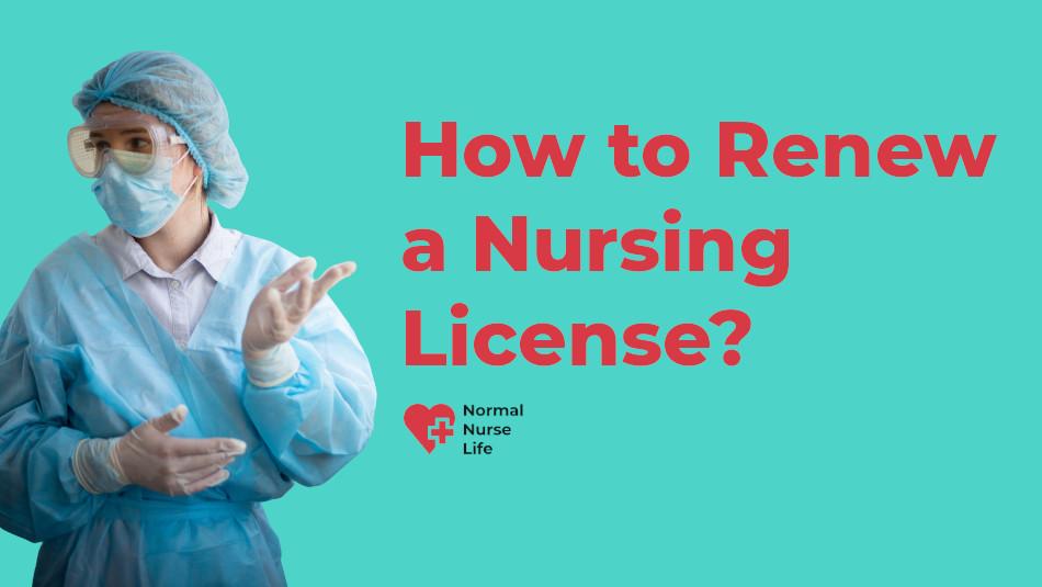 How to renew nursing license
