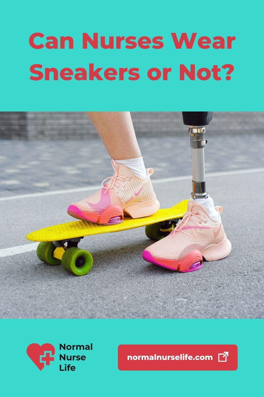 Can nurses wear sneakers or not