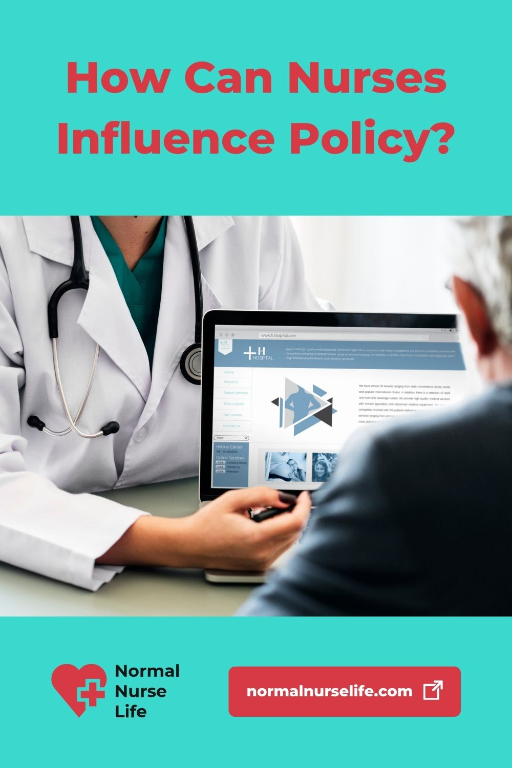 How can a nurse best influence policies in an organization