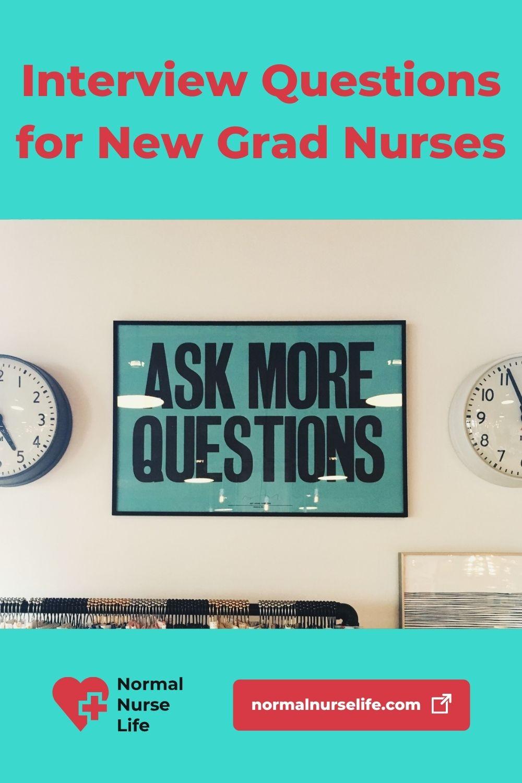 New grad nurse interview questions